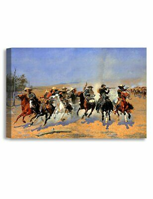 A Dash for The Timber Frederic Remington Classic Art Canvas Cowboy Western West