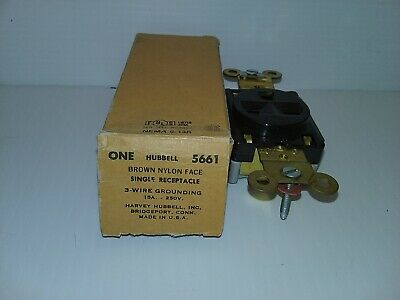 Hubbell Hbl5661 Single Receptacle Nema 6-15R 15A 250V 2P 3-Wire Grounding Nib