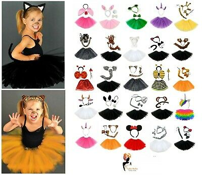 ANIMAL FANCY DRESS TUTU COSTUME  Kids Girls Teens Party Book Week Day Outfit