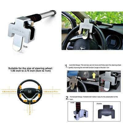 Freesoo Car Steering Wheel Lock Car Anti-Theft Lock Handbrake Gear Lock