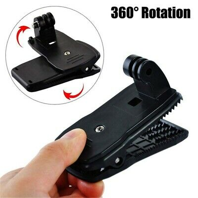Holder Action Camera Clip Backpack Mount 360 Rotating For Gopro Hero 7 6 5
