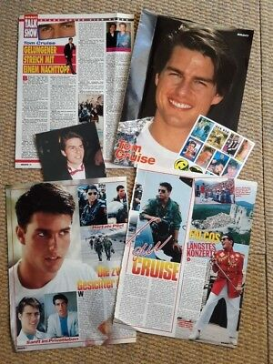 Tom Cruise Clippings Pack Of Vintage Clippings From  German Magazines