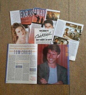 Tom Cruise Clippings Pack Of Vintage Clippings From Holland Dutch Magazines