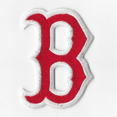 """Lot Of 5 Boston Red Sox Home Plate Shape  1.5/"""" Iron On Embroidered Patch"""