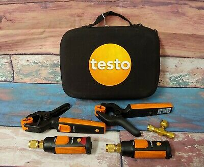 Testo 549i 115i Wireless Smart Refrigeration Pressure Probe Kit w Case & Clamps