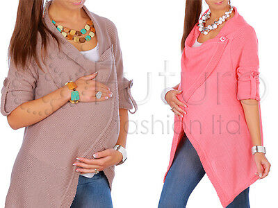 Maternity Warm Cardigan Thick Pregnancy Waterfall Poncho Blazer Coat MV180
