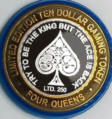 Four Queens Ace of Spades Blue Cap 2004 .999 fine silver Limited Edition 250