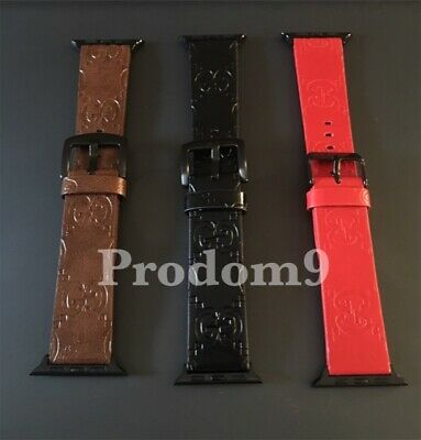 Gucci Louis Vuitton Apple Watch Band Leather iWatch Strap 38/40/42/44mm 1/2/3/4