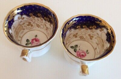 Pr. Antique Small Cups Iots Gold Decoration - Unmarked