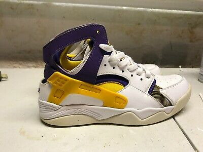 NIKE AIR FLIGHT Huarache Kobe Bryant La Lakers White Gold