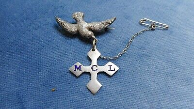 Antique Australian Sterling Silver Dove Brooch By Newman    N69154