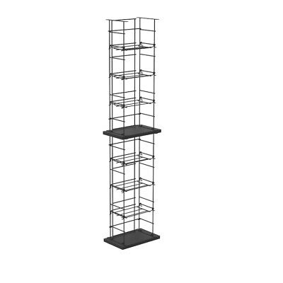 Metal Media Tower Rack CD DVD Video Gioco Blu-Ray Scaffale Stand