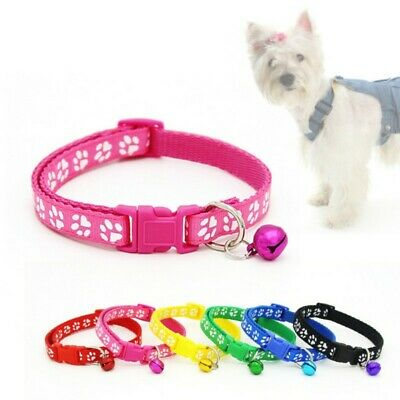 AU Dog Cat Collar Pet Puppy Kitten Adjustable Harness Neck Strap with Bell