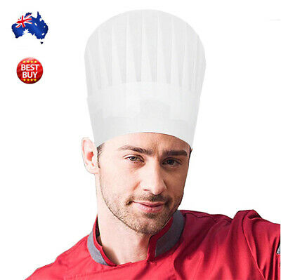 Chef Hat White Master Kitchen Costume Dress Up Party Cook Baker Adult & Kids AU