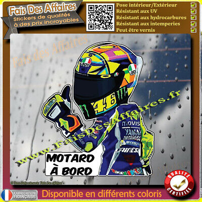 Stickers Autocollant motard à bord valentino rossi decal moto 46 grand prix