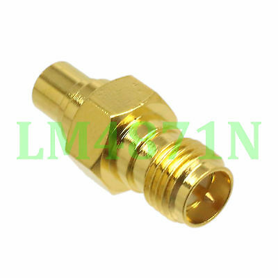 1pce Adapter RP.SMA female plug to MCX female jack RF connector straight M/F
