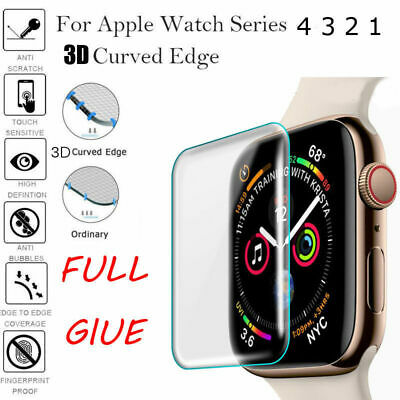 3D Full Cover For Apple Watch Series 4 3 2 Tempered Glass Screen Protector Film