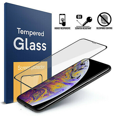 For iPhone 11 Pro Max/XS 3D Full Tempered Glass Protective Screen Protector Film
