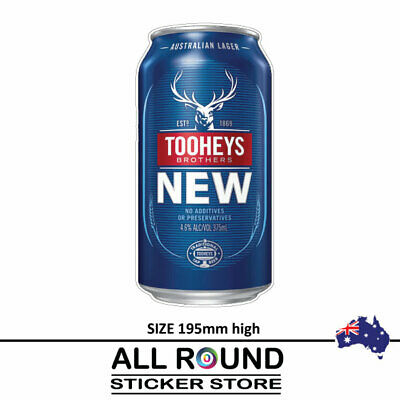 Tooheys New Beer Can  Stickers  Camping Trailer Bar Fridge