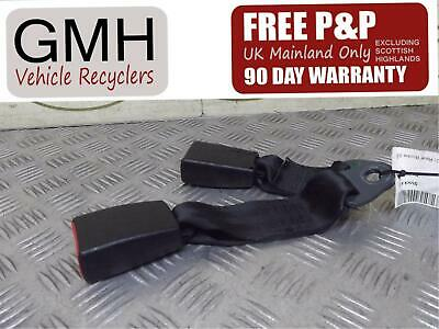 Nissan Micra Right Driver O/S Rear Seat Belt Stalk / Buckle Twin 2005-2009 ~