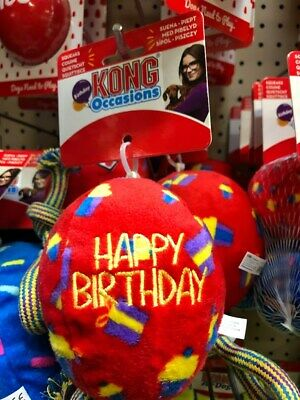 KONG Occasions Happy Birthday or Celebrate Balls Dog Squeaky Toy All sizes