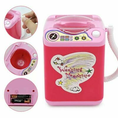 Mini Electric Wash Machine Cosmetic Sponge Makeup Brushes Cleaner Toy Wash D3H8E