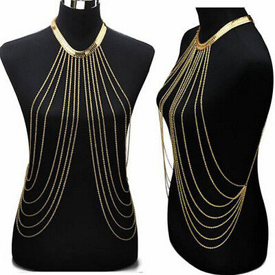 Charm Body Chain Necklaces Tassel Alloy Long Necklace Female Fashion Jewe FB