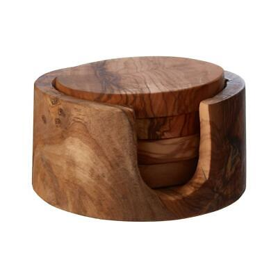 Kora Handcrafted Olive Wood Coaster Antibacterial & Hygienic Natural Colour
