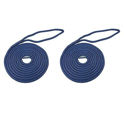 Brand New Braided Marlow Dock Line 20mm x 15m Bundle Red Fleck