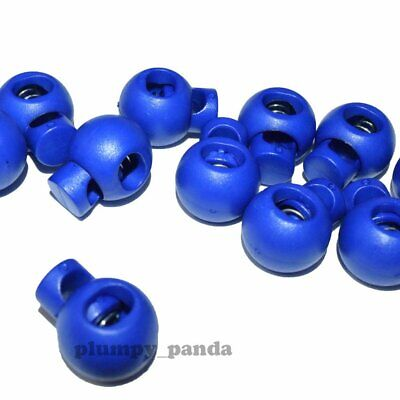"Blue Ball ( Hole = 5/16"" ) Round Cordlock Cord Locks Toggles Barrels Stopper End"
