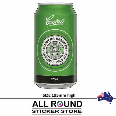 Coopers  Beer Can  Stickers  Camping Trailer Bar Fridge