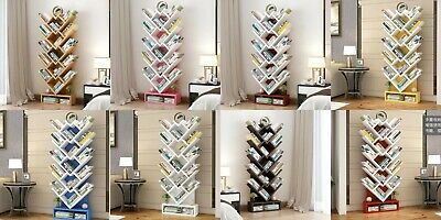 150cm Tree Shape Book Shelf Study Room Bookcase Wood Storage Rack Home Furniture