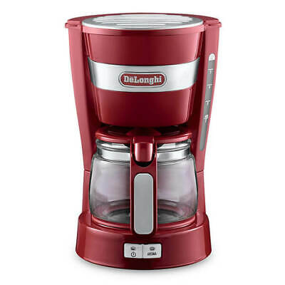 Delonghi Active Line Filter Coffee Machine Red