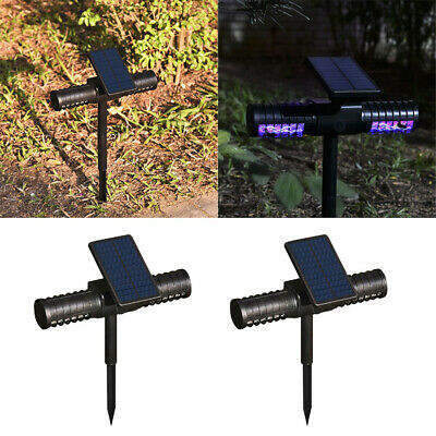 2 x Outdoor Patio Mosquito Killer Lamp, Bug Zapper Light, Solar LED - Large