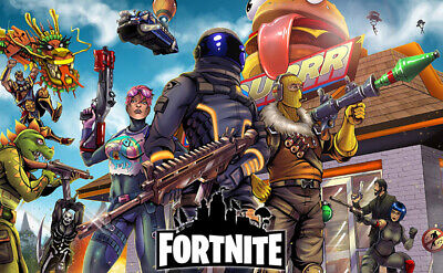 Fortnite Video Game Poster Size 17x29 24x42inch Silk Art Print Wallpaper