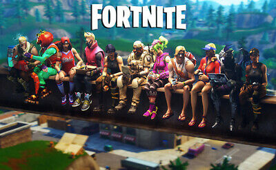 "Fortnite Video Game Wall Poster Prints Size 12x19inch 17x26 24x38""  Wallpaper"