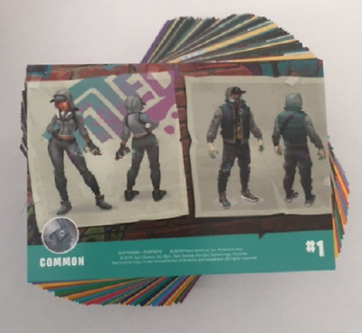 Panini Fortnite Trading Cards - Full Set of 100 Common Cards