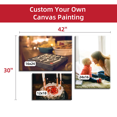 Customized your Photo Picture Custom Canvas Print Unframed Art Wall Decor A3/A4