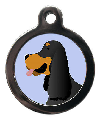 Gordon Setter Pet ID Tags Cute Dog Breed Pet Tags Name Discs Personalised FREE