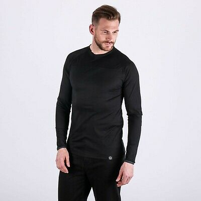 Knox Dry Inside Jacob Sport Mens Black All Season Base Layer Top Long Sleeve New