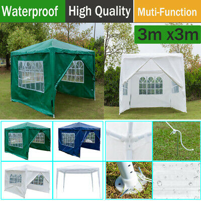 Gazebo Marquee Party Tent Waterproof PE Garden Patio Outdoor Canopy Picnic 3x3m