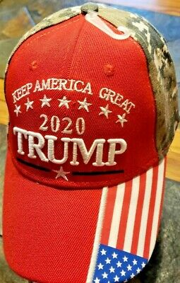 Red Front -Digital Camo Back -NEW TRUMP- 2020 HAT- KEEP AMERICA GREAT!
