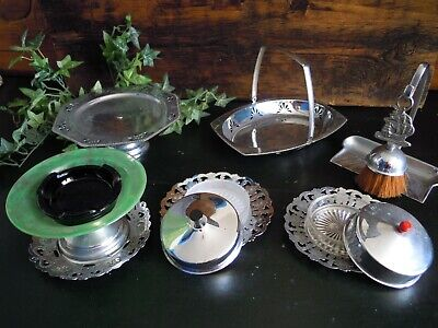 Vintage Chrome Two Tire Cake Stand  Afternoon Tea set