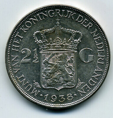 Netherlands 1938 2½ Gulden Au