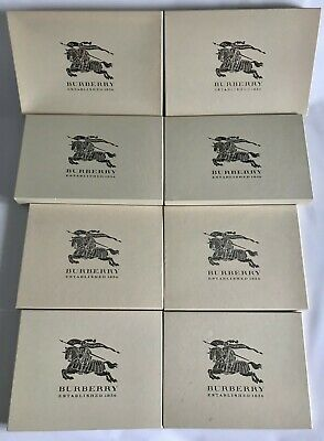 BURBERRY Logo Empty Beige Cardboard Boxes For Shirts/Scarves - 100% Authentic