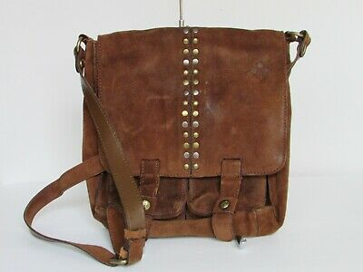 Patricia Nash Armeno Burnished Suede Messenger Crossbody Bag