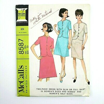 McCall/'s 8587  Misses/' Lined Dresses    Sewing Pattern