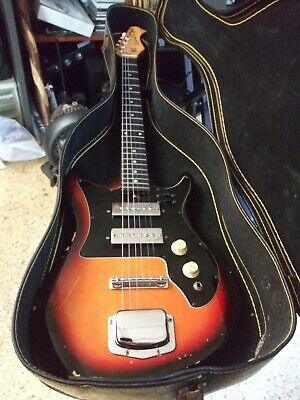 Harmony 1970's Electric Solid Body Guitar All Original