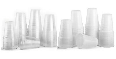 Plastic Disposable Cups Glasses Party Birthday Vending Tumbler 180ml White Clear
