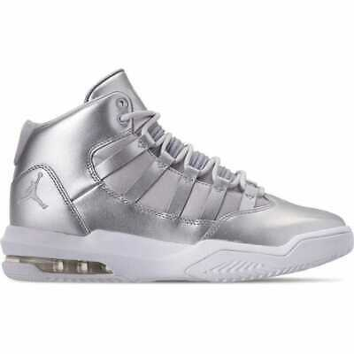 detailed look b77bb 83e92 BIG KIDS' JORDAN Max Aura SE Basketball Shoes Silver/Vast Grey/White AV5175  040